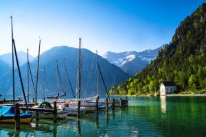 Segelboote am Plansee