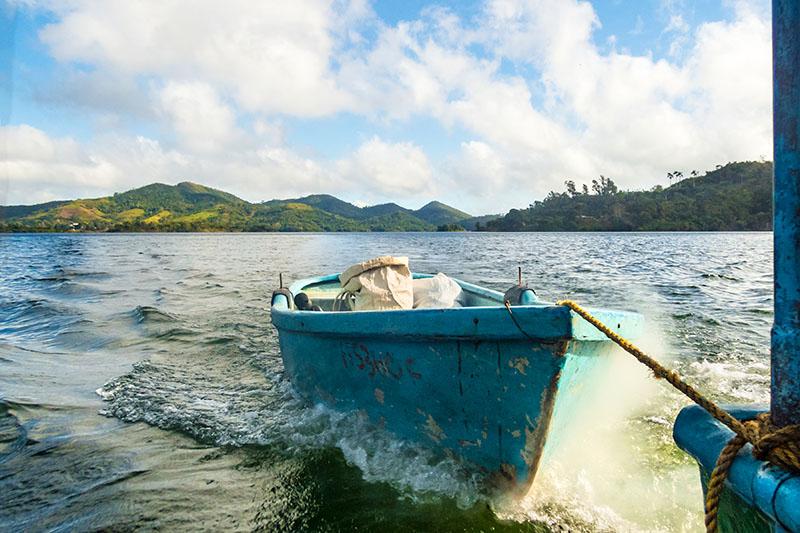 Unterwegs auf dem Hanabanilla Stausee
