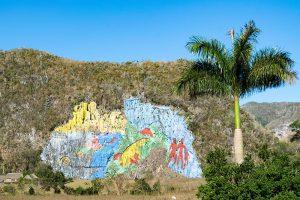 Mural de la Prehistoria im Viñales in Kuba
