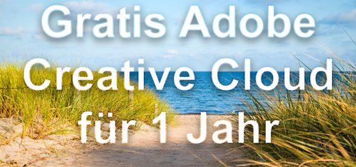 Adobe Creative Cloud gratis für 1 Jahr