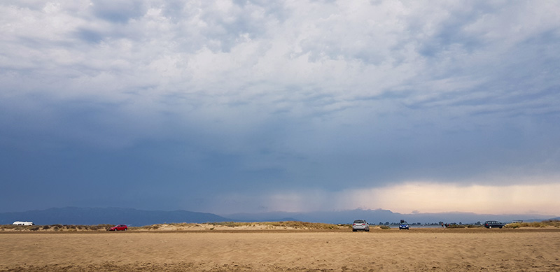 Sandbank am Platja Eucaliptus in Spanien
